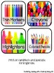 Classroom Supply Labels - Real Life Photos