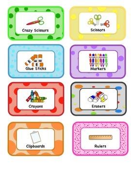 Classroom Supply Label Sample