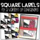 Classroom Supply & Organization Labels (Color Version)