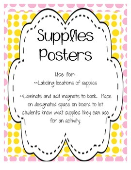 Classroom Supply Posters