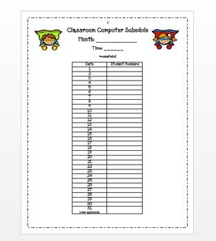 Classroom Technology Rotation Schedule