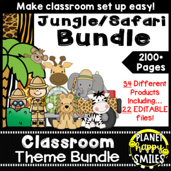 Classroom Decor Theme Bundle ~ Jungle/Safari Theme