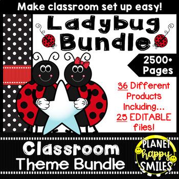 Classroom Decor Theme Bundle ~ Ladybug Theme