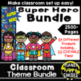 Classroom Decor Theme Bundle ~ Super Hero Theme