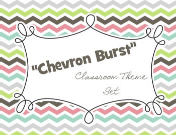 Classroom Theme - Chevron Burst