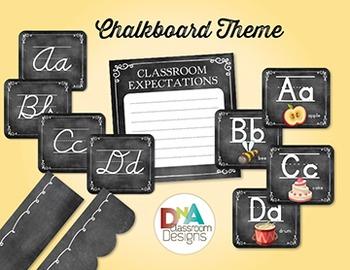Classroom Themed Décor Bundle-Chalkboard Chic