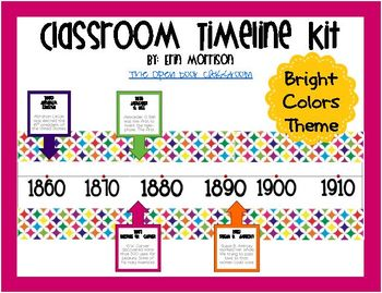 Classroom Timeline Kit- Bright Colors