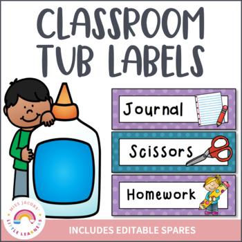 Classroom Tub Labels