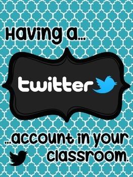 Kindergarten Classroom Twitter Account {Editable}