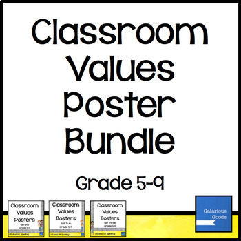 Classroom Values Posters - Bundle