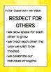 Classroom Values Posters - Set One