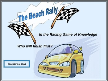 Vocabulary Game Race Car Rally
