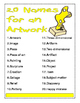 Classroom Vocabulary Poster