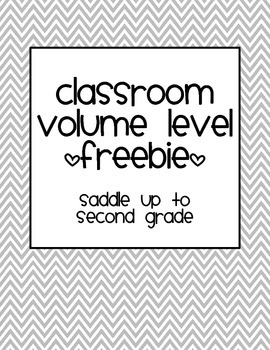 Classroom Volume Level Freebie