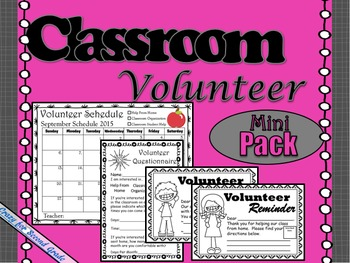 Classroom Volunteer Scheduler