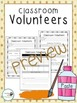 Classroom Volunteers BUNDLE