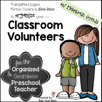 Classroom Volunteer Binder with Melonheadz friends