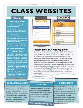 Classroom Websites using Weebly