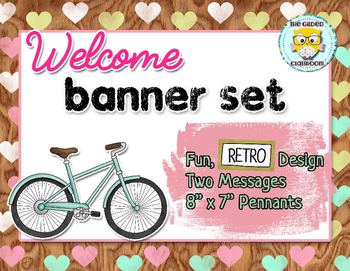 Classroom Welcome Banner, Retro theme
