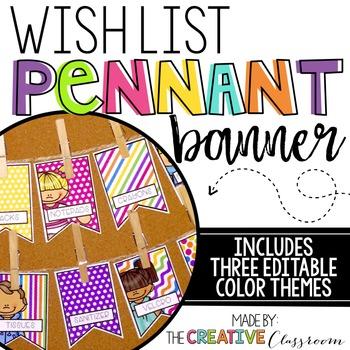 Classroom Wish List {EDITABLE}