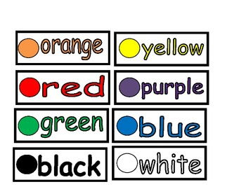 Classroom Word Wall- Color Word Cards