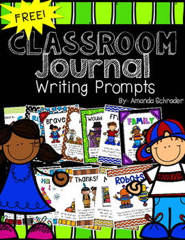 Classroom Writing Prompt Journals -FREEBIE