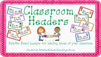 Classroom and Bulletin Board Headers