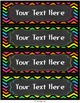 Classroom and School Supply Labels in Bright Chevron and C