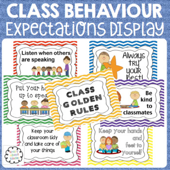 Classroom behaviour rules display