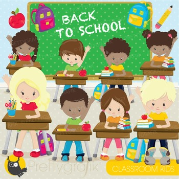 Classroom kids commercial use, graphics, digital clip art,