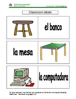 Classroom labels.