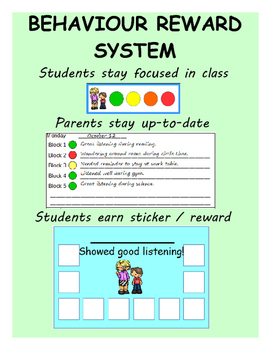 Behavior sticker chart reward system