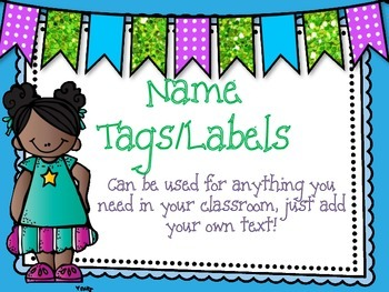 Classroom name tags/labels