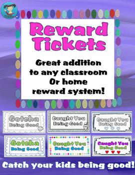 Classroom or Home Reward Tickets!