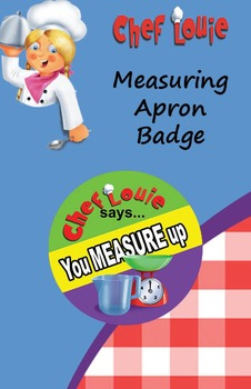 Classroom Set - Measuring Apron Reward Badge - How to Cook