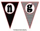 Classy Classroom Subject Pennants in Black, White, and Red