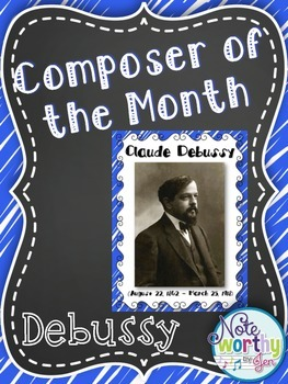 Claude Debussy Composer of the Month Bulletin Board Set {Y