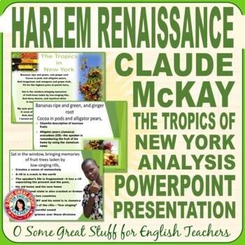 "Black History Claude McKay ""The Tropics of New York"" Powerpoint"