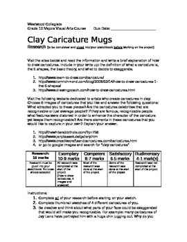 Clay Caricature Mugs