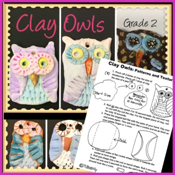 Clay Owl Worksheet: Patterns and Textures