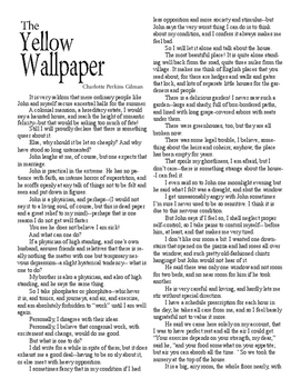 Clean Copy - The Yellow Wallpaper