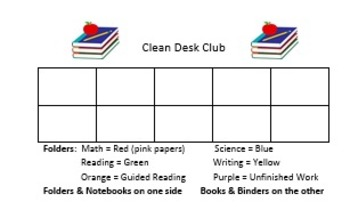Clean Desk Club Individual Sticker Chart promotes organization