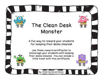The Clean Desk Monster with Black and White Frames