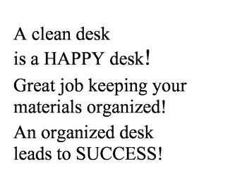Clean Desk Rewards