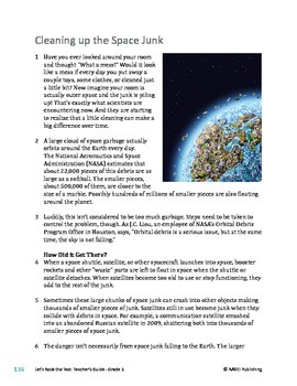 Cleaning Up the Space Junk/Pollution - Informational Text