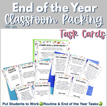Cleaning the Classroom Task Cards