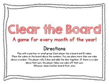 Clear the Board - Dice Game