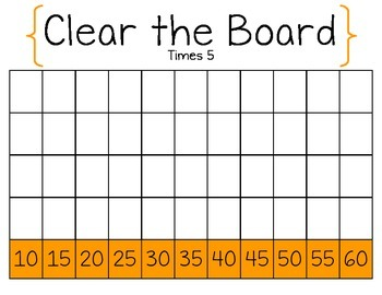 Clear the Board Times 5-Math Game