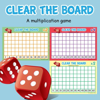 Times Tables Dice Game  - Clear the Board