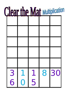 Clear the Mat Multiplication